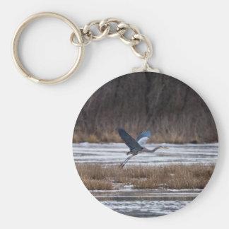 Heron Take Off Keychain