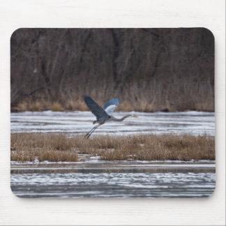 Heron Take Off Mouse Pad