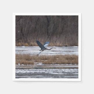 Heron Take Off Napkin