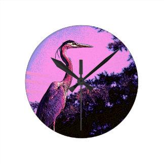 HeronColor Round Clock