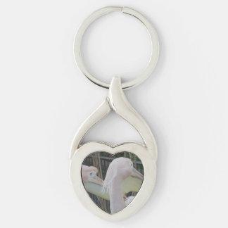 Herons Heart Keychain