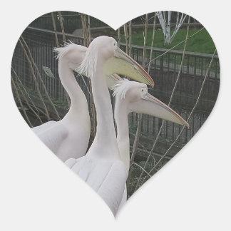 Herons Heart Sticker