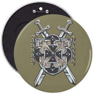 Hero's Coat Of Arms 6 Inch Round Button