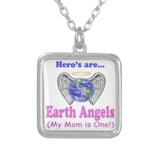 Hero's - Mom is Earth Angel Silver Plated Necklace