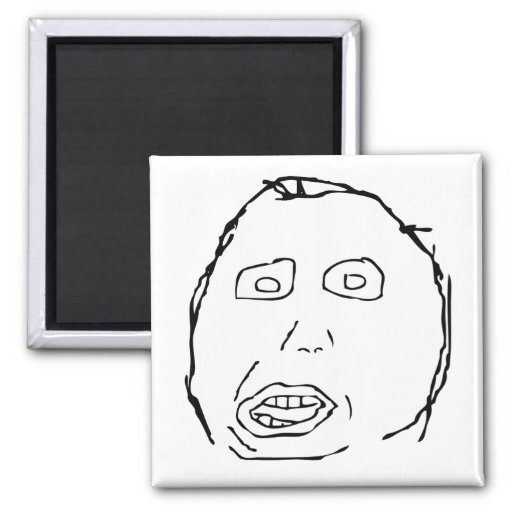 Herp Derp Idiot Rage Face Meme Fridge Magnets
