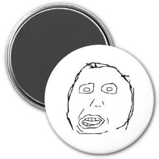 Herp Derp Idiot Rage Face Meme Magnet