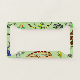 """Herpein-Zoology"" License Plate Frame"