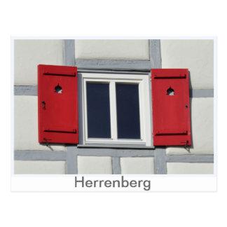 Herrenberger window shutter postcard