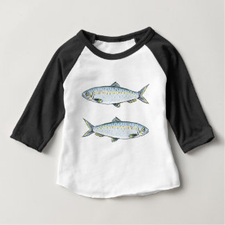 Herring Fish Sketch Baby T-Shirt