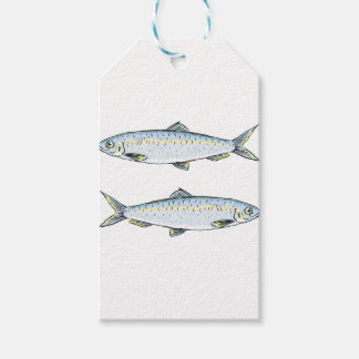 Herring Fish Sketch Pack Of Gift Tags