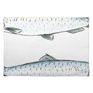 Herring Fish Sketch Placemat