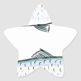 Herring Fish Sketch Star Sticker