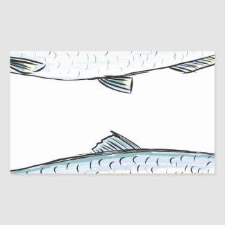 Herring Fish Sketch Sticker
