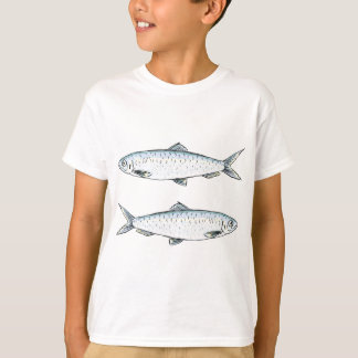 Herring Fish Sketch T-Shirt