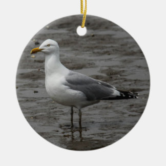 Herring Gull Round Ceramic Ornament