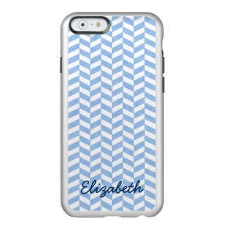 Herringbone Blue White Beach Colors Custom Incipio Feather® Shine iPhone 6 Case