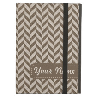 Herringbone Chevrons Pattern in Beige and Brown iPad Air Case
