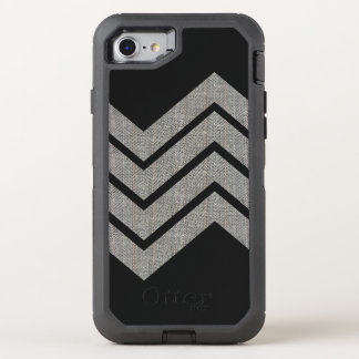 Herringbone Geometric Pattern Faux Fabric Texture OtterBox Defender iPhone 7 Case