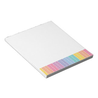 Herringbone LLR colors inspired Notepad