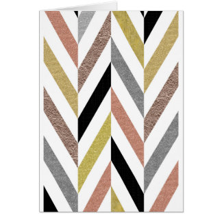 Herringbone Pattern Card