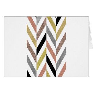 Herringbone Pattern Card