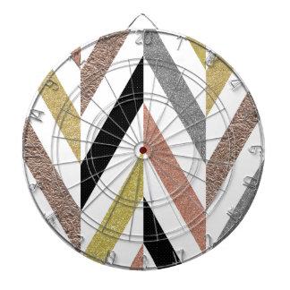 Herringbone Pattern Dartboard With Darts