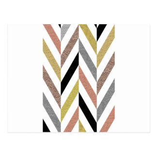 Herringbone Pattern Postcard