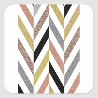 Herringbone Pattern Square Sticker