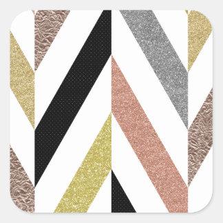 Herringbone Pattern Square Sticker