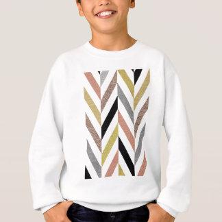 Herringbone Pattern Sweatshirt