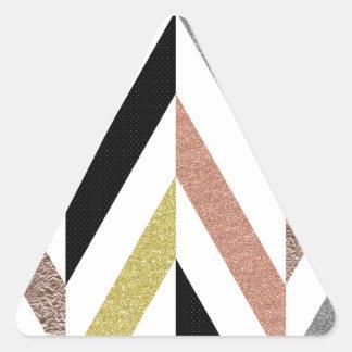 Herringbone Pattern Triangle Sticker