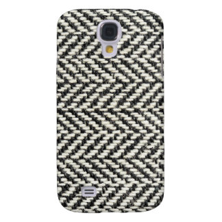 Herringbone Tweed Rustic Black & White Knit Print