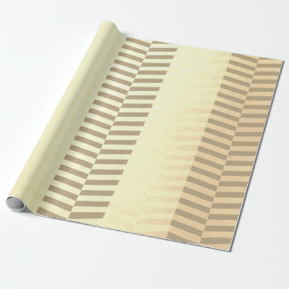 Herringbones  Vip Lines Ivory Foxier Brown Creamy Wrapping Paper