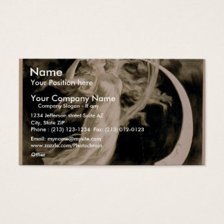 Herrmann, 'Maid of the Moon' Vintage Theater Business Card