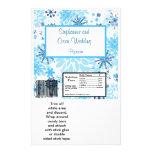 Hershey's Large Bar Wrapper  Blue Tree / Snowflake Custom Flyer