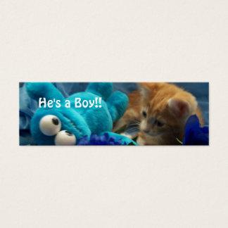 He's a Boy!! Mini Business Card