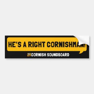 He's a Right Cornishman! A Cornish Soundboard Bump Bumper Sticker