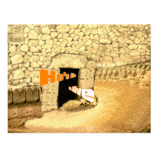 He's Alive Christian Easter Resurrection Art Postcard