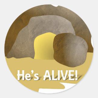 He's Alive! Classic Round Sticker