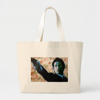 """He's in Your Living Room"" by Axel Bottenberg Large Tote Bag"