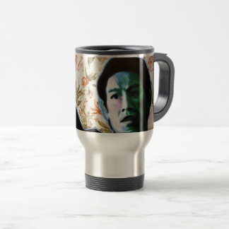 """""""He's in Your Living Room"""" by Axel Bottenberg Travel Mug"""