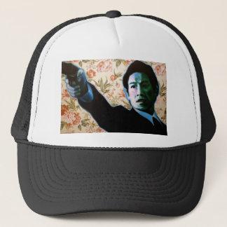 """He's in Your Living Room"" by Axel Bottenberg Trucker Hat"