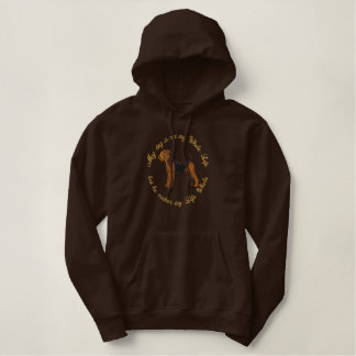 He's My Airedale Embroidered Hooded Sweatshirts