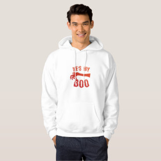 He's My Boo Halloween Love Couple Married Hoodie