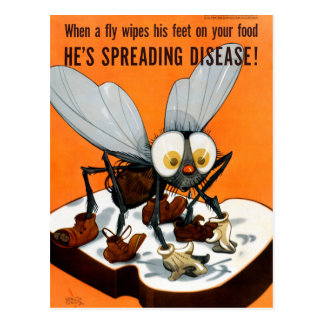 He's spreading desease Public Health Poster Postcard