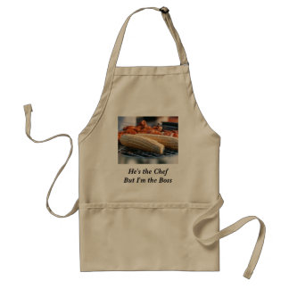 He's the Chef But I'm the Boss Standard Apron