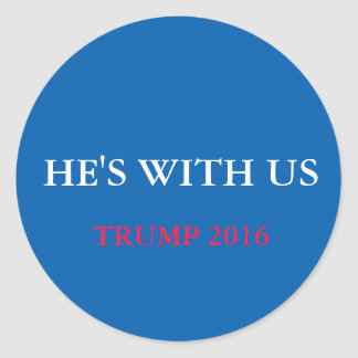 He's With Us - Set of 20 Stickers