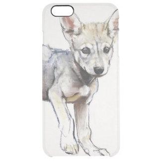 Hesitating Arabian Wolf Pup 2009 Clear iPhone 6 Plus Case
