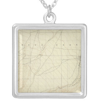 Hesperia quadrangle showing San Andreas Rift Silver Plated Necklace