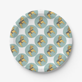 Hest Creative - Teal Circle Paper Plate